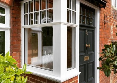 Hardwood Porch and Entrance Door